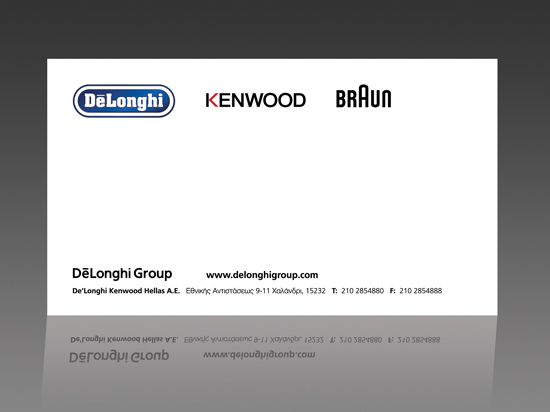 Company Cards for the company De'Longhi Kenwood Hellas
