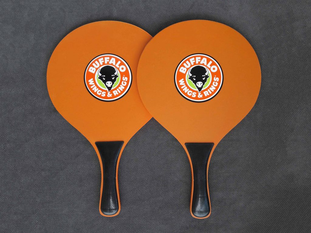 Promotional wooden rackets with printing